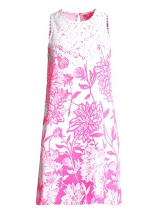 Lilly Pulitzer Nala Lace-Trimmed Floral Shift Dress