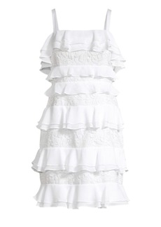 Lilly Pulitzer Olive Ruffle & Lace Tiered Dress