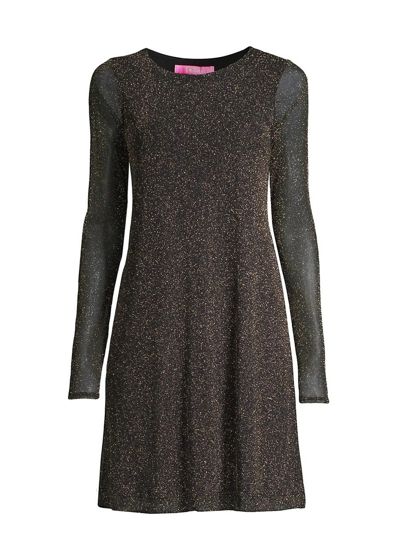 Lilly Pulitzer Ophelia Metallic Skater Dress
