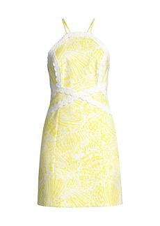 Lilly Pulitzer Pearl Halter Lace Dress