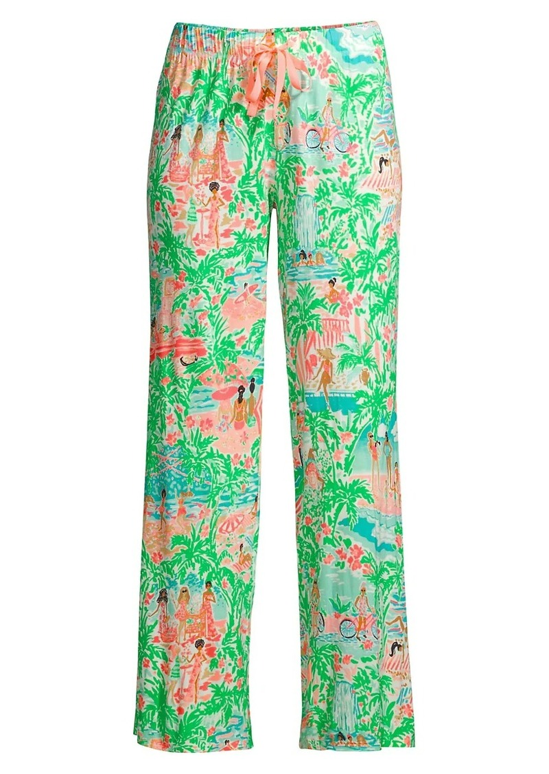 Lilly Pulitzer Print Pajama Pants