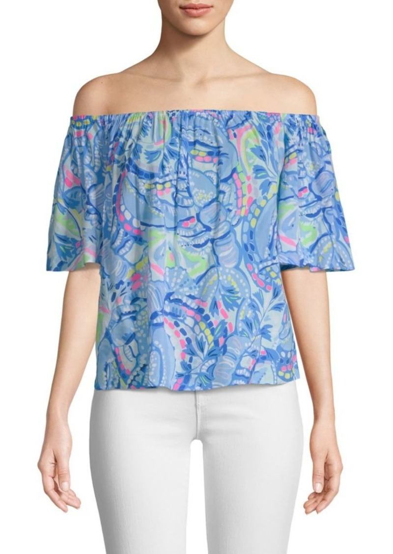 39ae48ef61b96 Lilly Pulitzer Sain Off-The-Shoulder Top