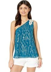 Lilly Pulitzer Sienne One Shoulder Silk Top