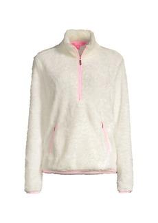 Lilly Pulitzer Skipper Sherpa Half-Zip Sweater