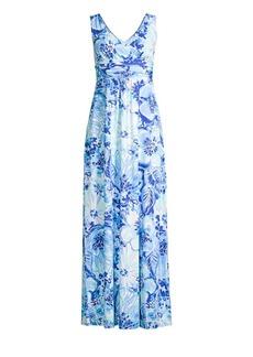 Lilly Pulitzer Sloane V-Neck Floral Maxi Dress