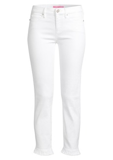 Lilly Pulitzer South Ocean Ruffle Skinny Jeans
