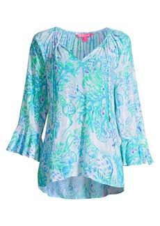 Lilly Pulitzer Willa Abstract Print Top