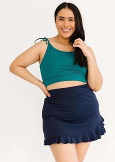 Lime Ricki Jade Shoulder-Tie Crop Top Swimwear