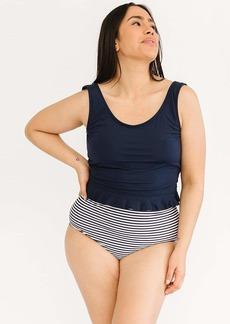 Lime Ricki Midnight Scoop Tankini Top Swimwear