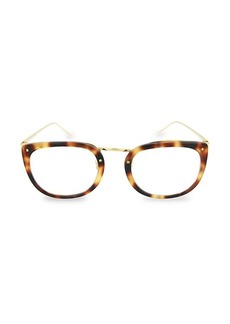 Linda Farrow 48MM Round Novelty Optical Glasses