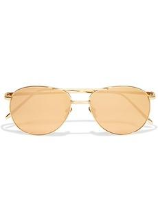 Linda Farrow Woman Aviator-style Gold-tone Mirrored Sunglasses Gold