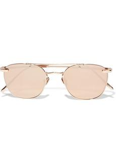 Linda Farrow Woman Aviator-style Rose Gold-tone Mirrored Sunglasses Rose Gold