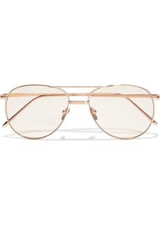 Linda Farrow Woman Aviator-style Rose Gold-tone Sunglasses Rose Gold