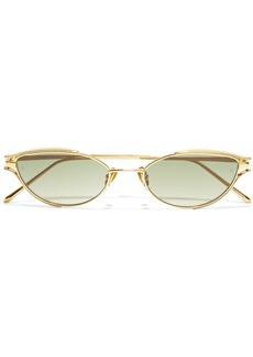 Linda Farrow Woman Cat-eye Gold-tone Sunglasses Gold