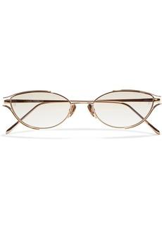 Linda Farrow Woman Cradle Cat-eye Rose Gold-tone Sunglasses Rose Gold