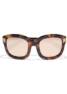Linda Farrow Woman Oversized Square-frame Gold-tone And Tortoiseshell Acetate Mirrored Sunglasses Brown
