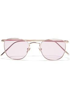 Linda Farrow Woman Simon Square-frame Gold-tone Sunglasses Gold