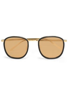 Linda Farrow Woman Square-frame Acetate And Gold-tone Sunglasses Gold