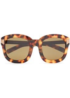 Linda Farrow Woman Square-frame Gold-tone And Tortoiseshell Acetate Sunglasses Light Brown