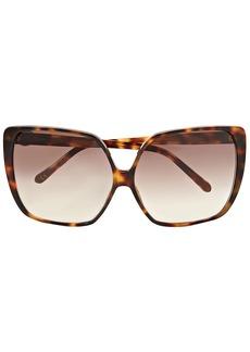 Linda Farrow Woman Square-frame Tortoiseshell Acetate Sunglasses Light Brown
