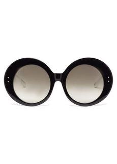Linda Farrow x Paco Rabanne Donyale oversized acetate sunglasses