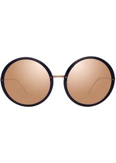 Linda Farrow mirrored round-frame sunglasses