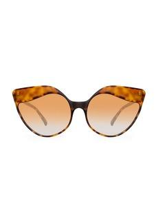 Linda Farrow Oversized 59.5MM Cat Eye Sunglasses