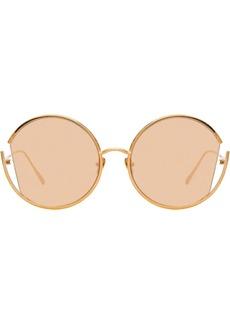 Linda Farrow round cut-out frame sunglasses