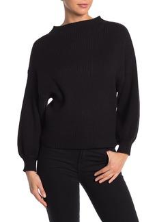 Line & Dot Alder Mock Neck Ribbed Sweater