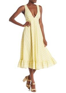 Line & Dot Ali Striped Ruffle Hem Dress