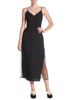 Line & Dot Elisa Lace Panel Midi Dress