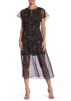 Line & Dot Garlan Print Dress
