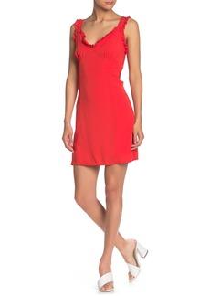 Line & Dot Karla Tie Ruffle Trim Dress