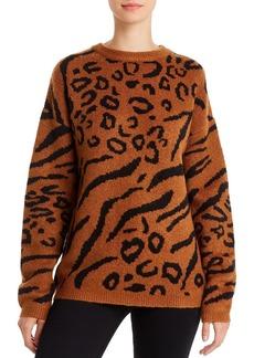 Line & Dot Alee Animal-Jacquard Sweater
