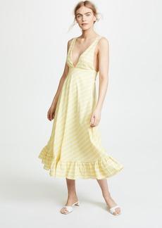 Line & Dot Ali Ruffled Hem Dress