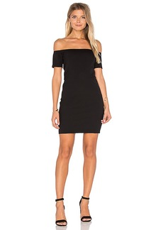 Line & Dot Cecil Off Shoulder Dress in Black. - size S (also in XS,M)