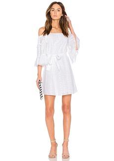 Line & Dot Celia Peasant Dress in White. - size L (also in S,XS)