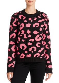 Line & Dot Civet Leopard Jacquard Sweater