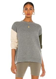 Line & Dot Dani Color Blocked Knit Sweater