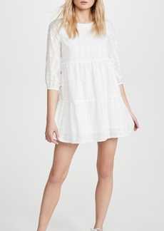 Line & Dot Embroidered Babydoll Dress