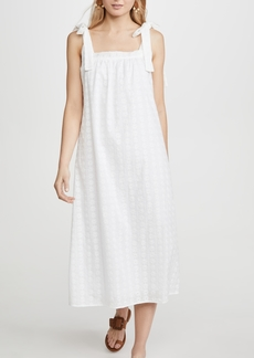 Line & Dot Embroidered Breeze Dress