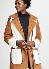 Line & Dot Faux Shearling Coat