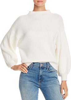Line & Dot Funnel-Neck Ribbed Sweater - 100% Exclusive