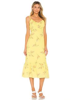Line & Dot Hailey Floral Print Midi Dress