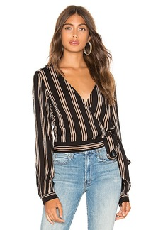 Line & Dot Harlow Wrap Top
