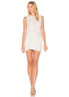 Line & Dot Laci Tied Dress in White. - size L (also in XS,S,M)