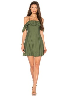 Line & Dot Leon Dress in Olive. - size L (also in S,XS,M)
