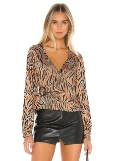 Line & Dot Liv Wrap Around Top