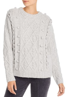 Line & Dot Mila Cable-Knit Sweater
