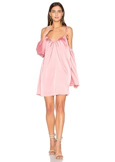 Line & Dot Rampling Mini Dress in Pink. - size M (also in S,XS)